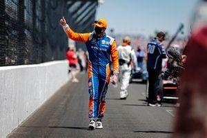 Scott Dixon, Chip Ganassi Racing Honda sur la grille de départ