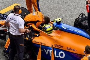 Lando Norris, McLaren MCL35M, on the grid