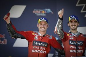 Race winner Jack Miller, Ducati Team, second place Francesco Bagnaia, Ducati Team