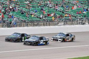 Josh Bilicki, Rick Ware Racing, Ford Mustang and Kurt Busch, Chip Ganassi Racing, Chevrolet Camaro Monster Energy