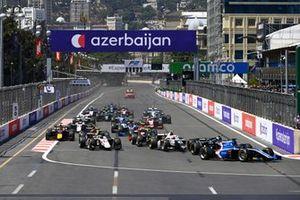 Guanyu Zhou, Uni-Virtuosi Racing, Ralph Boschung, Campos Racing and Matteo Nannini, Campos Racing