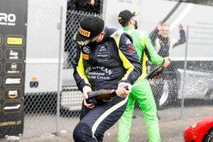 #7 Andrew Howard/ Jonny Adam - Beechdean AMR Aston Martin Vantage GT3 celebrates with the champagne