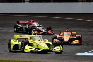 Simon Pagenaud, Team Penske Chevrolet, Ryan Hunter-Reay, Andretti Autosport Honda, Will Power, Team Penske Chevrolet