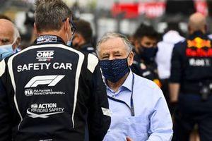 Bernd Maylander, Safety Car Driver, with Jean Todt, President, FIA