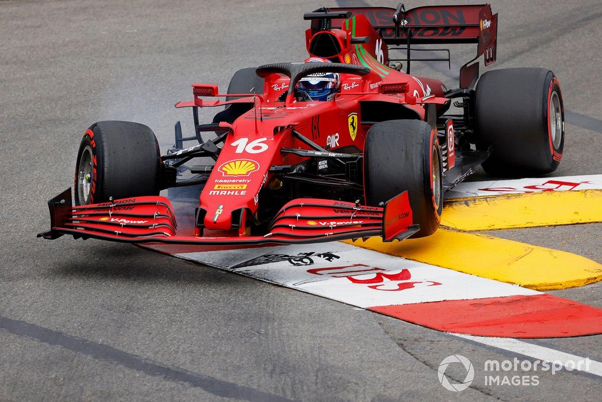 Incidente di Charles Leclerc, Ferrari SF21