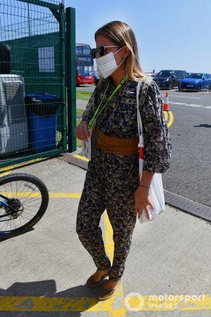 Isabel Hernaez, girlfriend of Carlos Sainz Jr., Ferrari