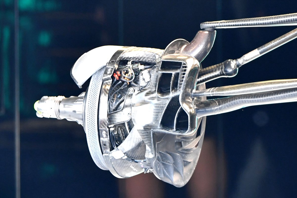 Detalle de la sobreexposición del FBD del Mercedes W12