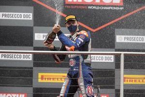 Podium: le 2ᵉ Garrett Gerloff, GRT Yamaha WorldSBK Team