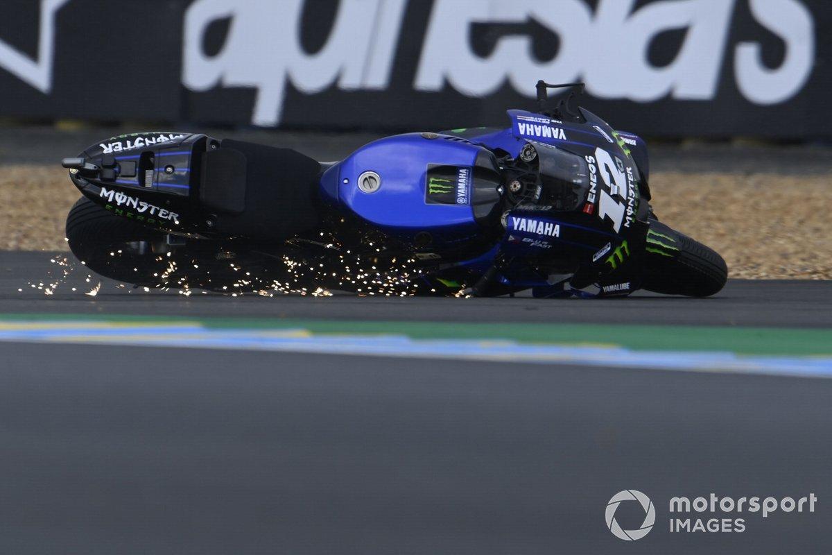 Maverick Viñales, Yamaha Factory Racing crash