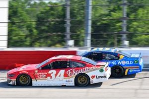 Michael McDowell, Front Row Motorsports, Ford Mustang Fr8 Auctions, Daniel Suarez, TrackHouse Racing, Chevrolet Camaro Camping World Throwback