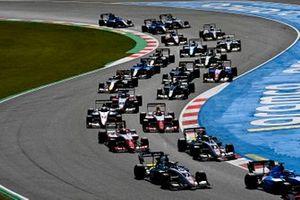 Frederik Vesti, ART Grand Prix, Juan Manuel Correa, ART Grand Prix, Dennis Hauger, Prema Racing, Arthur Leclerc, Prema Racing