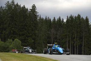 Caio Collet, MP Motorsport, leads Matteo Nannini, Hwa Racelab
