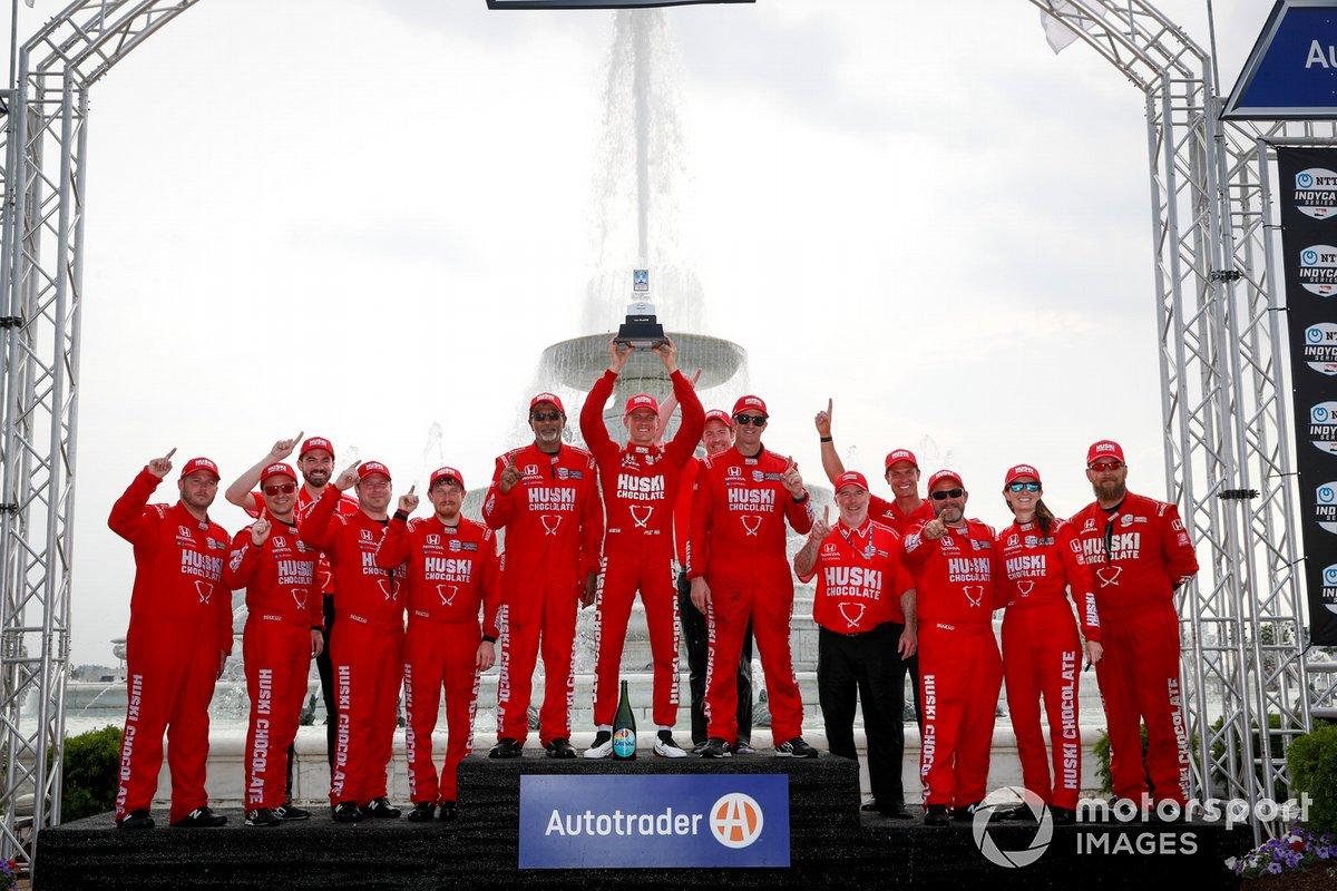 Podio: ganador Marcus Ericsson, Chip Ganassi Racing Honda
