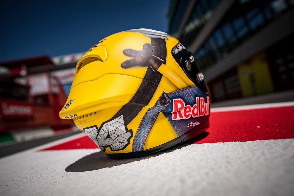 Casco especial de Mugello para Pol Espargaró, equipo Repsol Honda