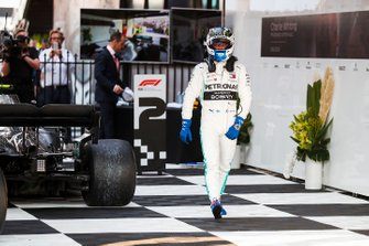 Valtteri Bottas, Mercedes AMG F1, 1st position, walks away from his car after winning the race