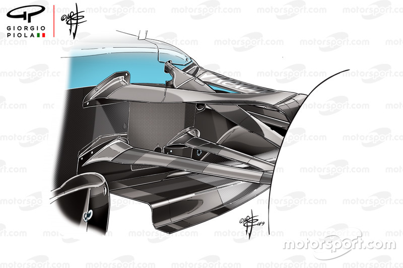 Triangle de suspension conforme sur la Williams FW42