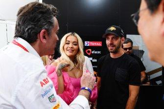 Alejandro Agag, CEO, Formula E, Rita Ora, Jean-Eric Vergne, DS TECHEETAH