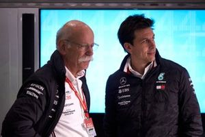 Dr Dieter Zetsche, CEO, Mercedes Benz, with Toto Wolff, Executive Director (Business), Mercedes AMG