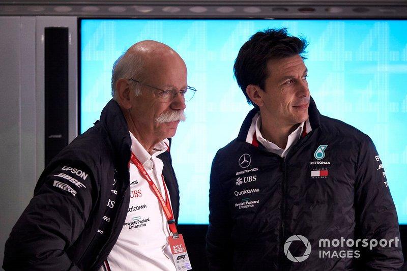 Dr Dieter Zetsche, CEO, Mercedes Benz y Toto Wolff, Mercedes AMG
