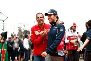 Marc Gene, Ferrari, with Sergio Perez, Racing Point