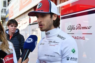 Antonio Giovinazzi, Alfa Romeo Racing talks with the media