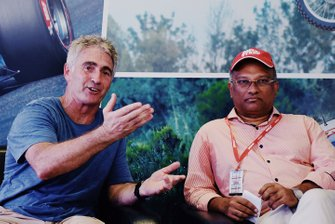 Mick Doohan and Arun Mammen, Managing Director, MRF Ltd