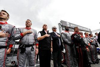 Roger Penske, Mark Miles, and Will Power, Team Penske Chevrolet team