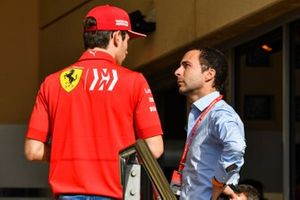 Charles Leclerc, Ferrari, avec Nicolas Todt