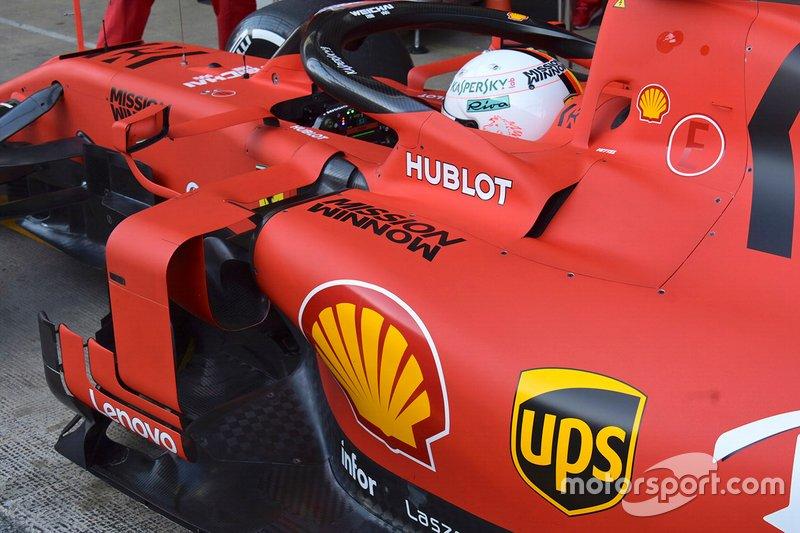 Область кокпита Ferrari SF90