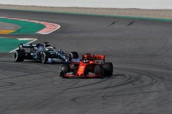 Sebastian Vettel, Ferrari SF90 and Valtteri Bottas, Mercedes-AMG F1 W10 EQ Power+