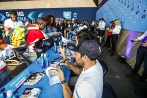Fans move down the line at the autograph session