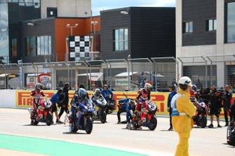 Marco Melandri, GRT Yamaha WorldSBK, Leon Camier, Honda WSBK Team, Ryuichi Kiyonari, Honda WSBK Team