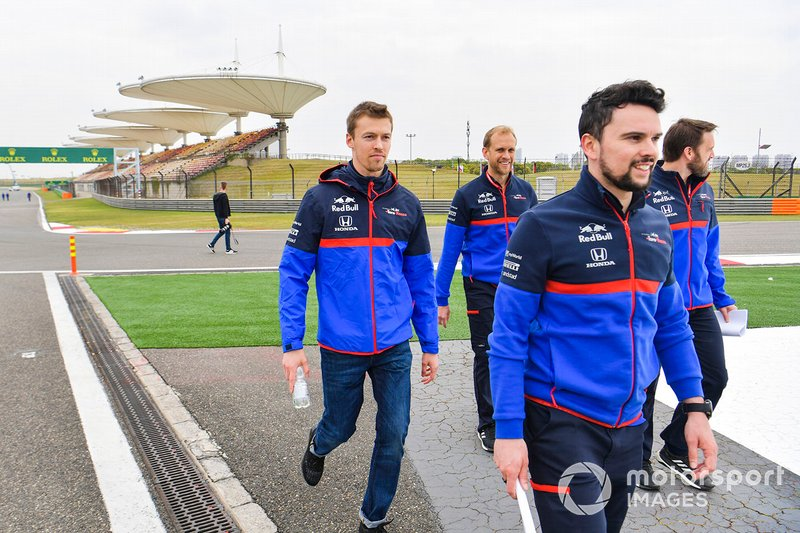 Daniil Kvyat, Toro Rosso, avec son équipe