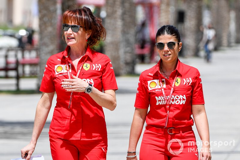 Silvia Hoffer Frangipane, Ferrari press officer in the paddock