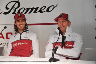 Antonio Giovinazzi, Alfa Romeo Racing and Kimi Raikkonen, Alfa Romeo Racing in a Press conference