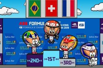 Podio del ePrix de Hong Kong 2019 de Fórmula E, por MinEDrivers