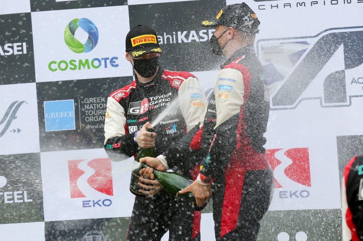 Podium : Kalle Rovanperä, Jonne Halttunen, Toyota Gazoo Racing WRT Toyota Yaris WRC