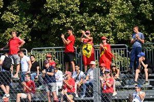 Ferrari fans in a grandstand