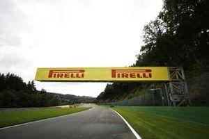 Pirelli branding on a bridge