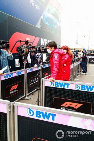 Carlos Sainz Jr., Ferrari speaks to the media