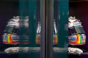 The helmet of Sebastian Vettel, Aston Martin