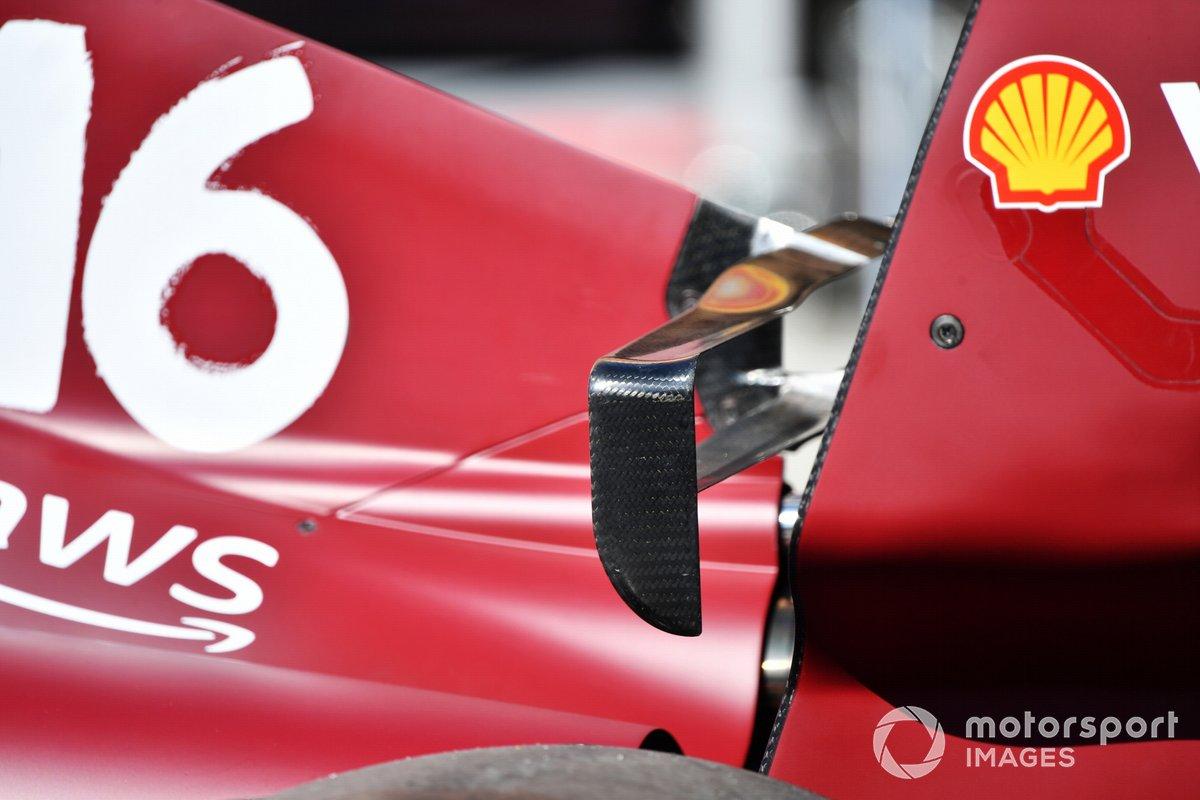 Detalle aerodinámico del Ferrari SF21