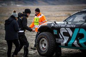 Christiana Figueres Segretaria Esecutiva del UN Framework sui Cambiamenti Climatici e Molly Taylor/Johan Kristoffersson, Rosberg X Racing Odyssey 21