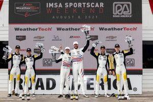 #3 Corvette Racing Corvette C8.R, GTLM: Antonio Garcia, Jordan Taylor, #79 WeatherTech Racing Porsche 911 RSR - 19, GTLM: Cooper MacNeil, Matt Campbell, #4 Corvette Racing Corvette C8.R, GTLM: Tommy Milner, Nick Tandy
