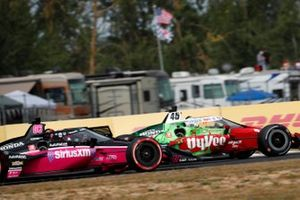 Helio Castroneves, Meyer Shank Racing Honda, Oliver Askew, Rahal Letterman Lanigan Racing Honda