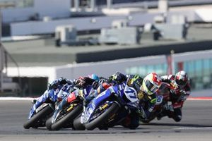 Dominique Aegerter, Ten Kate Racing Yamaha, Manuel Gonzalez, Yamaha ParkinGO Team, Jules Cluzel, GMT94 Yamaha