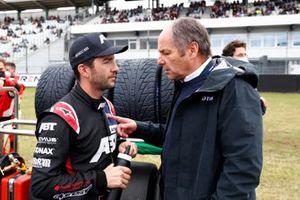 Mike Rockenfeller, Abt Sportsline, mit Gerhard Berger