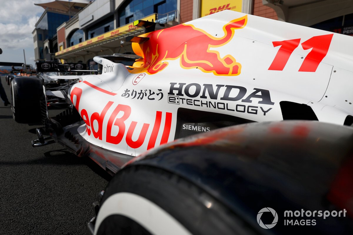 Red Bull Racing RB16B with white livery