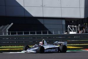 Martin Brundle drives a Brabham BT49