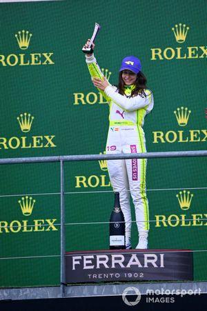 Marta Garcia, 3° classificato, sul podio